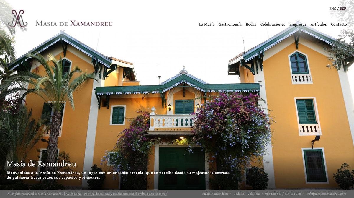 web de Masia de Xamandreu